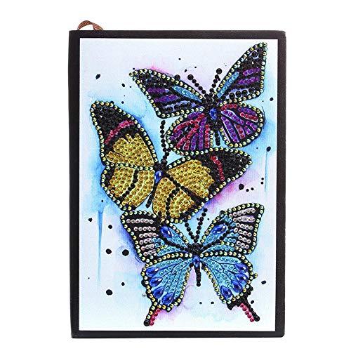 Seasons Shop Diamant Painting Notizbuch DIY Schmetterlings Sonder Shaped Diamant Malerei Stickerei Skizzenbuch Reise Logbuch Tagebuch Buchs, 210 150 10mm Nice