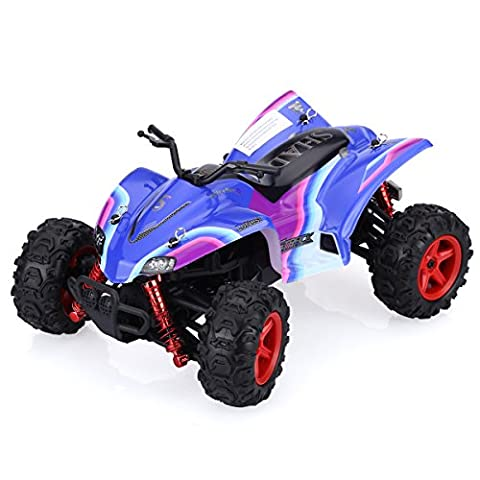 GPTOYS S609 Racing Cars Rirder5 4WD Truck Vechicles RC ATV Electric Speed 40mph Off-Road 2.4Ghz Wireles Radio System Monster Truck Truggy Drifting Car Toy For Kids - Bluish Violet