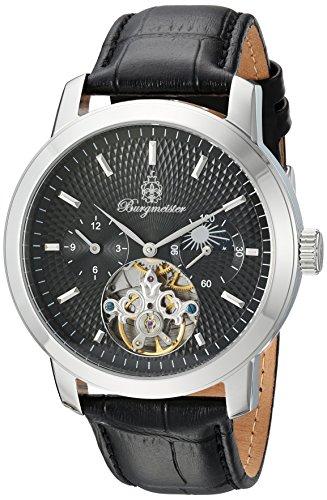 Burgmeister Herren Analog Automatik Uhr mit Leder Armband BM225-122