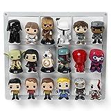 Borangame Support Mural pour 18 Figurines Funko - Présentoir en métal léger, Stable et Solide - Facile à Installer - Idéal pour Ranger Les Miniatures Pop, Disney, Star Wars, Marvel, Pokemon