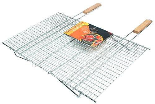 ruecab-1093-grille-de-barbecue-quadrillage-fin-inox-sur-pieds-poignee-bois-argent-16-x-60-x-645-cm