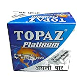 Topaz Platinum Double Edge Razor Blades - Pack of 50