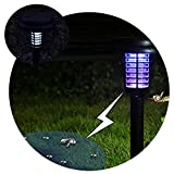 Lianqi Lampada solare Anti-zanzara della lampada del prato inglese di potere solare LED lampade UV dell'assassino della lampada, utilizzata anche per la villa interna ed esterna, il balcone, il corridoio, l'uva, il pavimento, il giardino (1PCS)