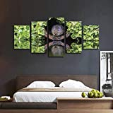 Foagge Vole Escondido en el Agujero Multi Panel Lienzo Arte de la Pared 5 Piezas HD decoración del hogar Impresa