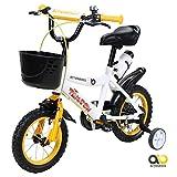 Actionbikes Kinderfahrrad Timson ab 3 Jahren 12 Zoll Gelb Kinderrad Kinder Mädchen Jungen Fahrrad