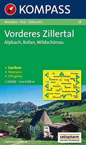 Carta escursionistica n. 28. Austria. Tirolo... Vorderes Zillertal, Alpbach, Rofan, Wildschonau 1:50.000. Con carta panoramica. Adatto a GPS. DVD-ROM digital map. Ediz. bilingue