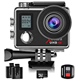 Campark Action Kamera WIFI Dual LCD Bildschirm 4K Sport Action Cam 16MP Ultra HD Helmkamera...