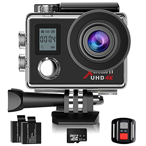 Campark ACT76 Action Cam 4K WIFI 16MP Ultra HD Sport Action Camera con Dual Screen Telecomando