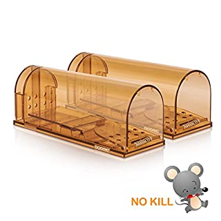 ADORIC Mouse Trap Humane Rat Trap, Mouse Traps 2 Pack No Kill Humane Mice Traps, Catch and Release Trap