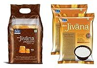 Jivana Classic Sugar, 1 kg (Pack of 2) & Jaggery 950 gm (Combo of 3)