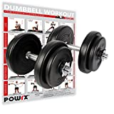 Manubri pesi 20 kg set (2 x 10 kg) + PDF workout con 20 esercizi