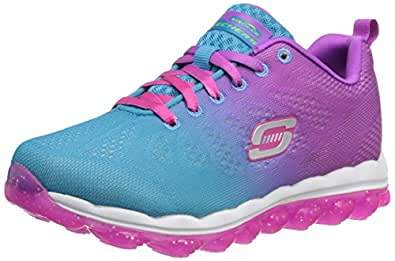 Skechers Girl's Skech Air Blue and Purple Sports Shoes - 2 kids UK/India(35 EU)(3 US)