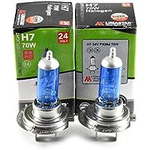 2x H7Lámpara Halógena 70W 24V, bombillas incandescentes Bombillas Lámpara Vehículos Xenon EFECTO 5