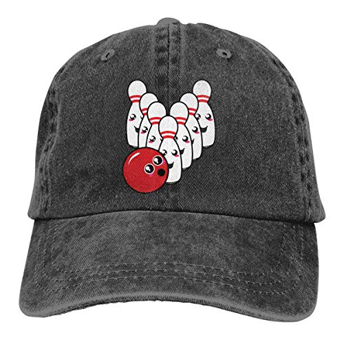 Ingpopol Men's/Women's Adjustable Vintage Jeans Baseball Caps Cute Bowling Ball Hiphop Cap -