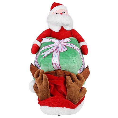 Estink Pet Chien Santa Claus Vêtements Chiot Drôle Costume De Noël Cosplay Vêtements D'hiver Vêtements