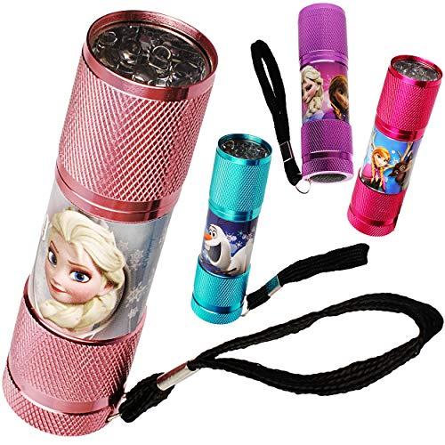 alles-meine.de GmbH Taschenlampe LED - Disney die Eiskönigin - Frozen - aus Metall - Mini Lampe / Schlüsselanhänger - 9 Fach LEDlicht - Licht Auto Kindertaschenlampe für Mädchen ()