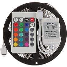 STRISCIA BOBINA A LED 5050 RGB 5METRI SMD LED 5 METRI LUCE MULTICOLOR COLORI