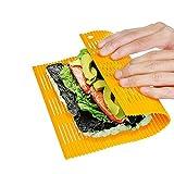 "Shuxy Antiadherente Sushi Rolling Mat DIY Sushi Roller Maker Kit de fabricación de sushi plástico japonés 11.8 ""L x9.8"" W Color aleatorio"