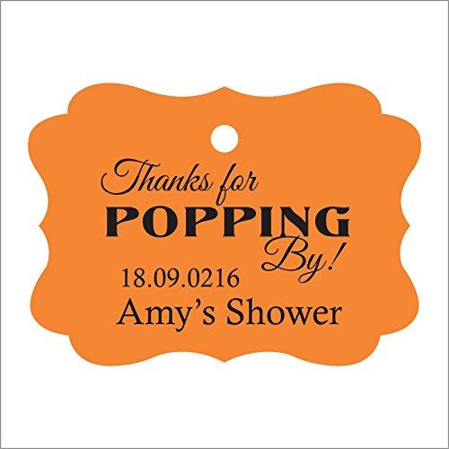100 PCS-Baby-Dusche begünstigt Tags individuelles Angebot danken Ihnen für popping von Baby-Dusche Geschenk hängen Tags (Geschenke Ihnen Baby-dusche Danken)