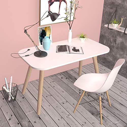 YQ WHJB Einfache Schreiben Computertisch,Home Office Große Computer Schreibtisch,hölzerne Bein Rechteckige Study-Tabelle Multifunktöne Workstation-b 80x40cm(31x16inch) -