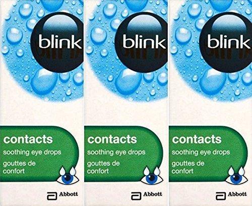 Blink Kontaktlinsen Beruhigend Augentropfen 10ml x 3 Packs