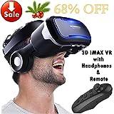 Casque en verre de réalité virtuelle VR avec télécommande et casque pour iPhone...