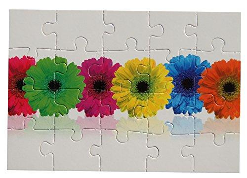 bsb - 493732 - Puzzle Card, mit Umschlag, 20 Teile, Blumen