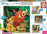 Bell motivo, Bambi, Lion King, IL libro della Giungla Puzzle, colore variegato (18104)