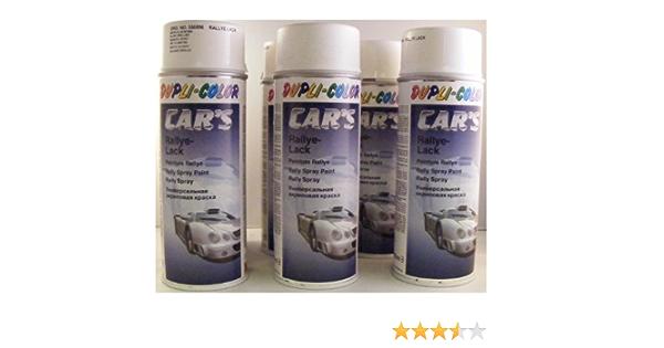 Dupli Color 385896 Car S Rallye Lack Weiß Glänzend 6 Spraydosen á 400ml Auto