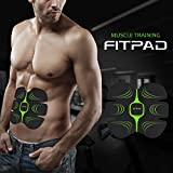 FITPAD Abdominal trainer Body Toner Arms Tricep Toning Automatic Muscle Fitness Training, Unisex Ab Toner Weight Loss Belt Exercise Equipment, Light Wearable Individuation Gym Workout Home Fitness Machine, Build Muscles of Abdomen Arms for Man and Woman