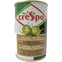 Crespo - Olives vertes à la farce d'anchois - La boîte de 300g - Prix Unitaire - Livraison Gratuit Sous 3 Jours