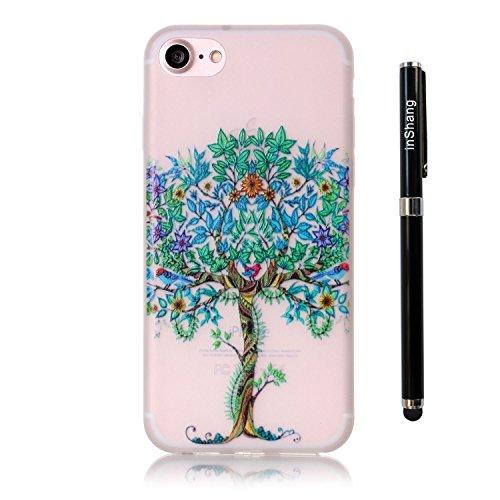 inShang 4.7 inch iPhone 7 Housse de Protection Etui [Transparent iPhone 7 Coque] [Luminous dans l'obscurité], Ultra mince et léger Case Cover de protection + Qualite Logo Pens Haute Stylet capacitif
