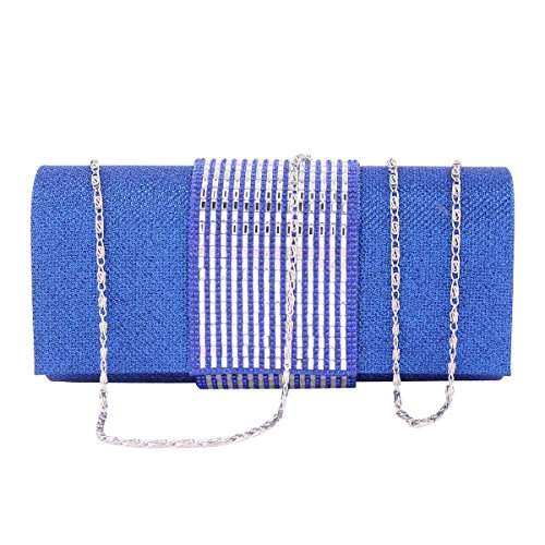 Damara® Damen Medium Pailletten Handtasche Mit Strass Dekoration Schwarz