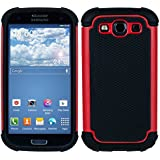 kwmobile Hybrid Outdoor Hülle für Samsung Galaxy S3 / S3 Neo - Dual TPU Silikon Hard Case Handy Hard Cover in Rot Schwarz