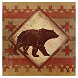 Thirstystone 4-Piece Lodge Bear Coaster Set