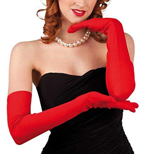 Boland 03102 - Handschuhe Los Angeles, Einheitsgröߟe, (Erwachsene Rot Kostüme Lange Perücke)