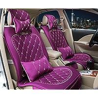 FM Cuatro Estaciones De Tela De Seda De Coche De Amortiguador Seat Cover , Purple,purple