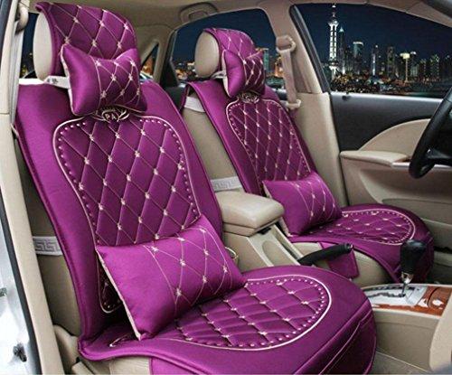XL FFGES Vier Jahreszeiten Stoff Tag Seide Auto Kissen Sitzbezug , Purple,purple