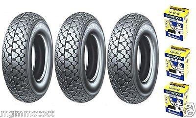 Trois pneus Pneu Michelin s83 3.50 10 59J + chambre d'air LML Star 125 150