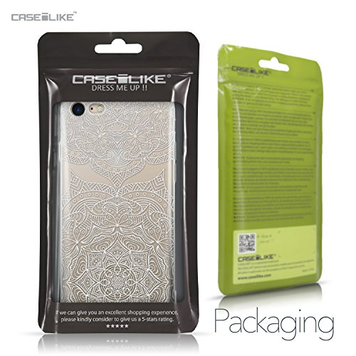 CASEiLIKE Coque iPhone 7 , Ultra Mince Crystal Case TPU Silicone Clair Transparente Exact Fit Soft Housse Etui Coque Pour iPhone 7 Art Mandala 2303