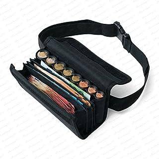 Securina24 Kellnertasche mit 8 Fach Euro-Geldwechsler - Tragegurt (schwarz)