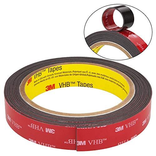 3M VHB Cinta adhesiva 5952F para superficies dificiles 1,1 19 mm x 3 m Negra