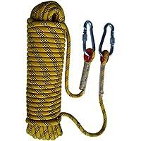 Cuerda de seguridad Tonyko para escalar al aire libre y en interiore, para paracaídas e incendios, 10m(32.8ft)