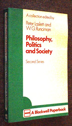 Philosophy, Politics and Society: (Second Series)