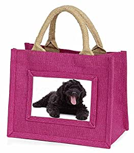 Black Labradoodle Dog Little Girls Small Pink Shopping Bag Christmas Gift