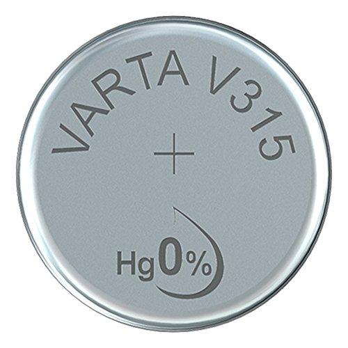 'VARTA 14501315 Sauna Motif oxyde d'argent Pile Bouton V315 Argent