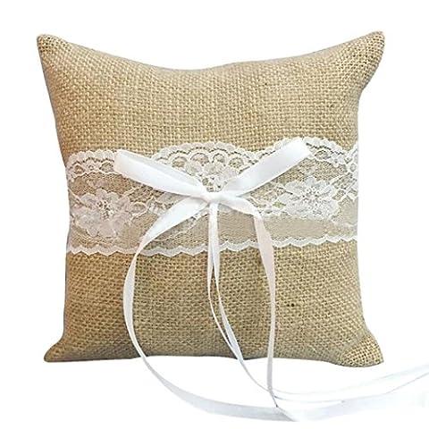 1omiky® jute/Housse de coussin en satin avec intérieur en coton