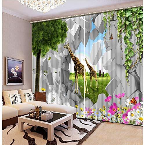 Wkjhdfgb camerette per bambini tende per animali tende fatte per porte tende per finestre tende oscuranti per la camera da letto 245x280cm