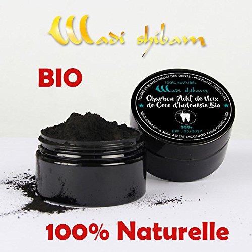 """Polvo de carbón activo de coco 100% natural """"Bio para blanqueamiento dental"""