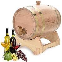 Barril de Vino de Madera de Roble Vintage Dispensador de Whisky Bourbon Tequila Ron (5L)